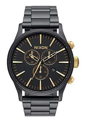 Nixon Sentry Chrono A3861041-00. Men's Watch (42mm Watch Case. 23-20mm Matte Black Stainless Steel Band)