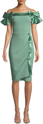 Chiara Boni Marita Off-the-Shoulder Bow Dress