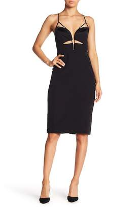 Bardot Shanina Deep V-Cutout Body Con Dress