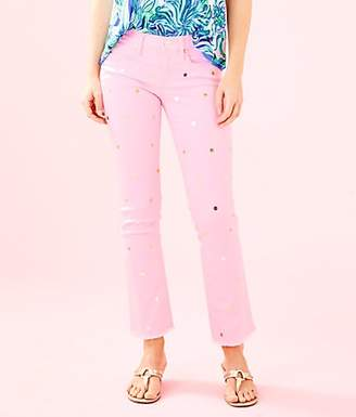 """Lilly Pulitzer 28"""" South Ocean Crop Flare Jean"""