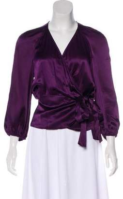 Diane von Furstenberg Wrap Silk Top