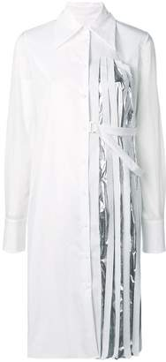 Maison Margiela pleated panel shirt dress