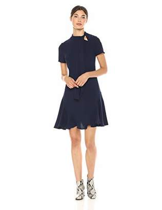 Shoshanna Women's Bosher Short Sleeve A Line Dress