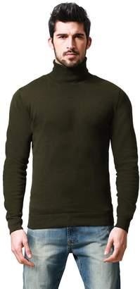 Match Men's Long Sleeve Turtleneck Pullover Sweater #Z1528