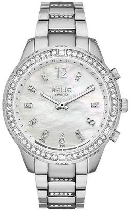 RELIC Relic Eliza Womens Silver Tone Smart Watch-Zrt1000