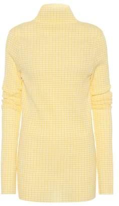 Jil Sander Plaid cotton-blend top