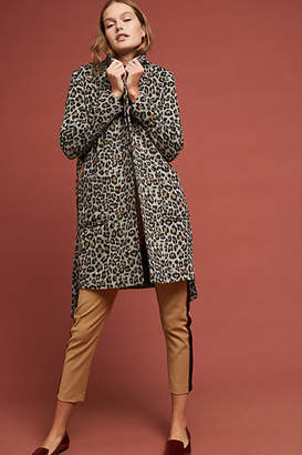 Cupcakes And Cashmere Leopard Knit Coat