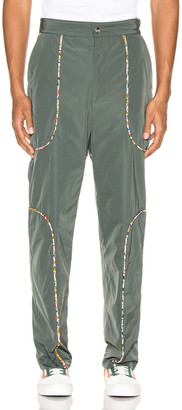 Paria Farzaneh Piping Suit Trousers in Teal   FWRD