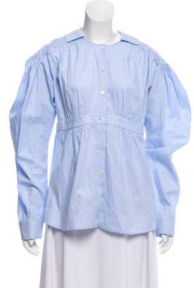 Loewe Woven Button-Up Top