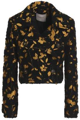 Lanvin Metallic Floral-Jacquard Tweed Jacket