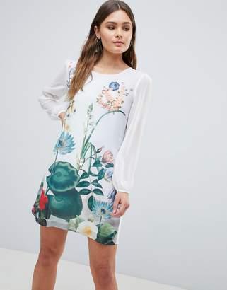 Yumi Lilypad Border Print Tunic Dress