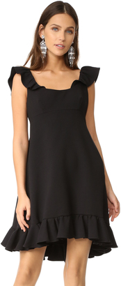 Milly Double Weave Cady Lindsey Dress $525 thestylecure.com