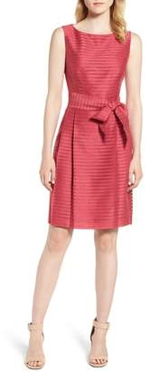 Anne Klein Sleeveless Shadow Stripe Dress