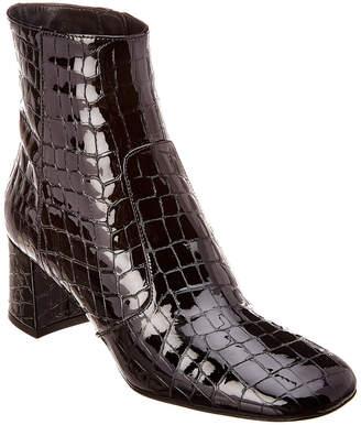Karen Millen Patent Croc Bootie