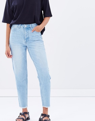 High Waisted Rigid Jeans