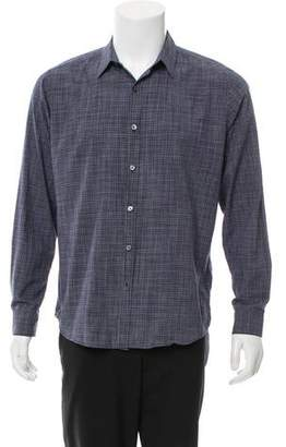 Theory Striped Button-Up Shirt