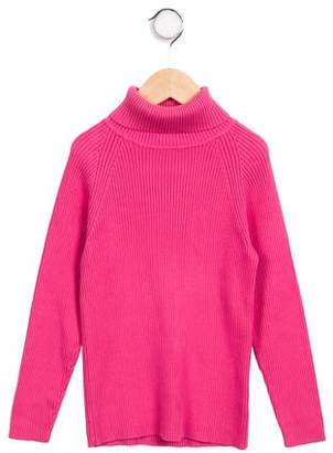 Papo d'Anjo Girls' Knit Turtleneck Sweater