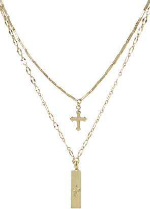Ettika Set of 2 Cross Pendant Necklaces