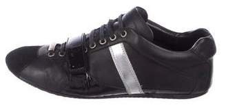 Christian Dior Leather Low-Top Sneakers