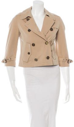 Burberry Cropped Trench Coat $260 thestylecure.com