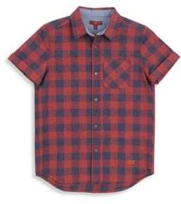 7 For All Mankind Little Boy's& Boy's Check Shirt
