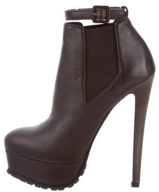 Vera Wang Leather Platform Booties