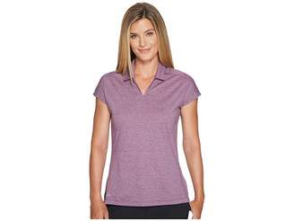adidas Tonal Stripe Cap Sleeve Polo Women's Clothing