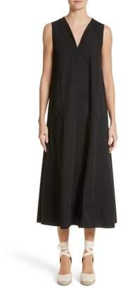 Fuzzi Sleeveless Poplin Shift Dress