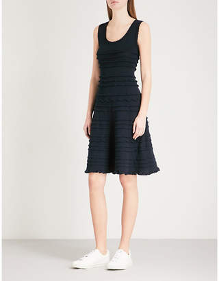 Claudie Pierlot Frilled-trim knitted dress