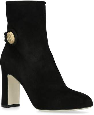 Dolce & Gabbana Vally Button Ankle Boots 90