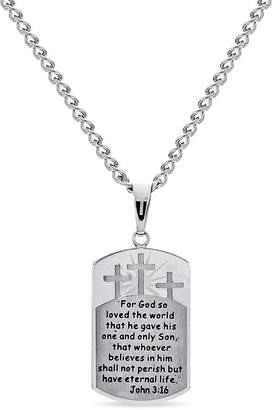 FINE JEWELRY Mens Dog Tag Pendant Necklace