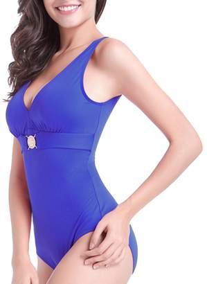 91cc53b8df at Amazon Canada · BOYANN Plus Size Swimwear for Women Tummy Hide One Piece  Swimsuits Bikini