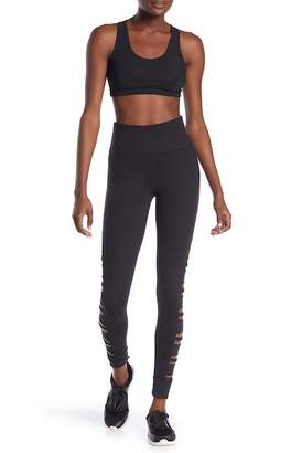 Betsey Johnson Side Cutout Stretch Leggings