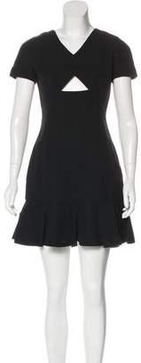 Victoria Beckham Cut-Out Short Sleeve Dress