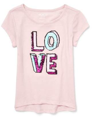 Children's Place The Sequin Graphic Hi-Lo Tee (Little Girls & Big Girls)