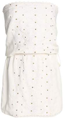 Melissa Odabash Embellished Embroidered Gauze Coverup