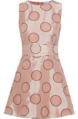 RED Valentino Flared Polka-Dot Duchesse-Satin Mini Dress