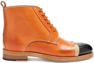 Maison Margiela Capped-toe leather ankle boots