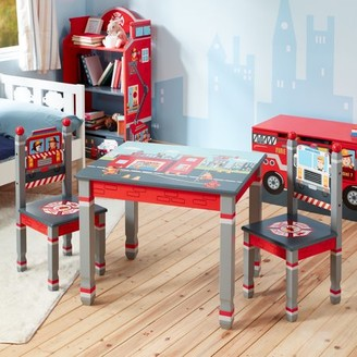 Teamson Kids Fantasy Fields - Little Fire Fighters Table and Set of 2 Chairs