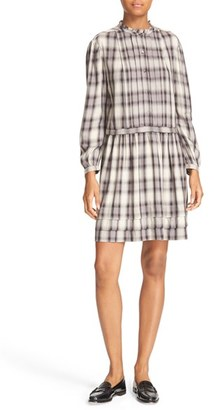 Women's La Vie Rebecca Taylor Plaid Pleated Shirtdress $295 thestylecure.com