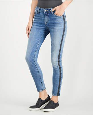 Lucky Brand Lolita Sparkle-Stripe Skinny Ankle Jeans