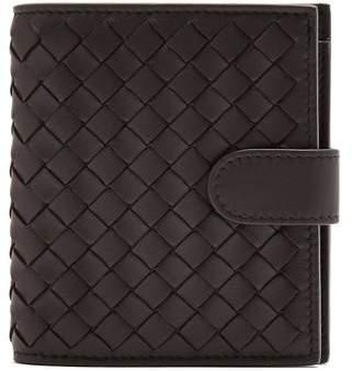 Bottega Veneta Intrecciato Card Holder And Zip Around Wallet - Womens - Black