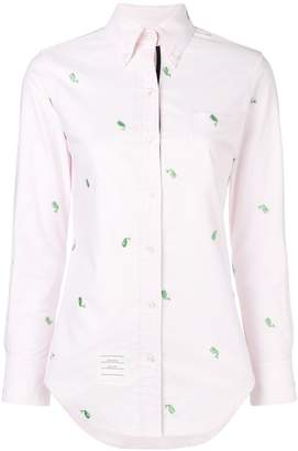 Thom Browne Whale Embroidery Oxford Shirt