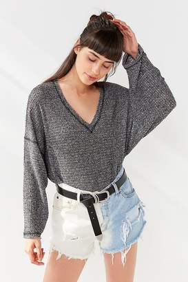 Urban Outfitters Logan Slouchy V-Neck Top