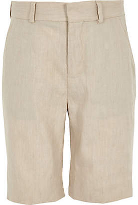 River Island Boys ecru linen suit shorts