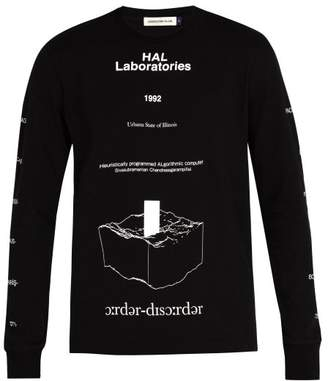 Undercover Human Error Long Sleeved Cotton T Shirt - Mens - Black