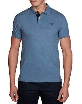 Gant Contrast Collar Piq Short Sleeve Rugger