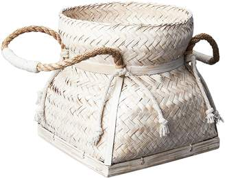Inartisan Bamboo Basket with Rope Handles