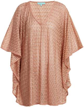Melissa Odabash Madison waterfall-sleeve crochet-knit kaftan