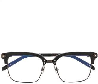 Hublot Eyewear half square frame glasses